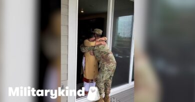 Soldier sneaks onto grandma's porch to surprise her | Militarykind